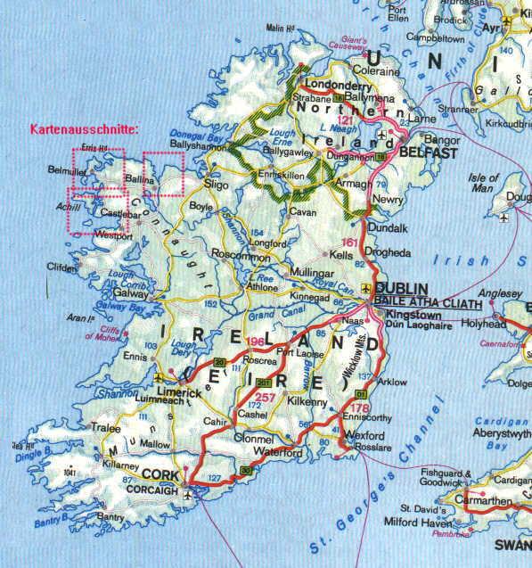 Irland Karte.Irland Die Grune Insel Eine Reise Nach Mayo Landkarten